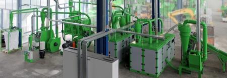 установка Guidetti по переработке микросхем и плат